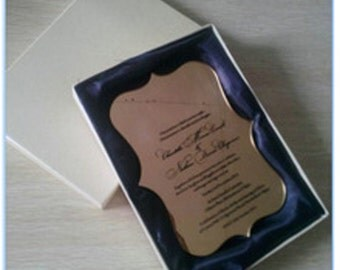 100 Personalised Laser Cut Clear Acrylic Wedding Invitations With Folder