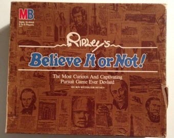 Ripley's Believe It Or Not Vintage Board Game 1984