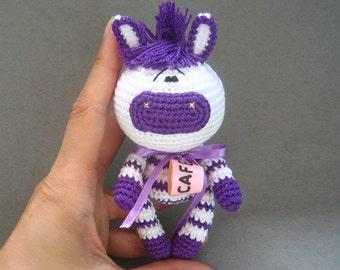 Little Crochet Zebra. Amigurumi