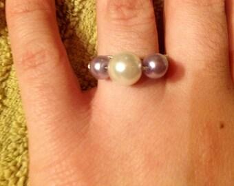 Cute Bead Pearl Ring