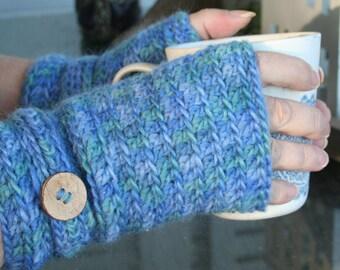 Fingerless Gloves, Crochet pattern , Fingerless Mittens , Wool Gloves