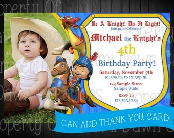Mike the Knight Invitation Custom Digital Delivery