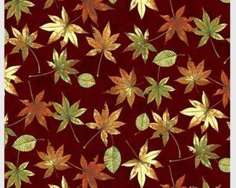 Shades of Autumn Falling Leaves from P & B by the yard