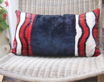 SILK VELVET CUSHION ikat