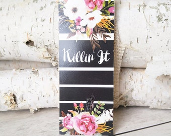Bookmark - Back to School - Planner Accessories - Stocking Stuffer - Women's Gift - Flower Book Mark - Christmas Gifts