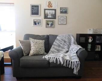 Chunky Crochet Fringe Blanket