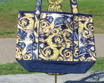 Dr. Who Starry Night Tote Bag
