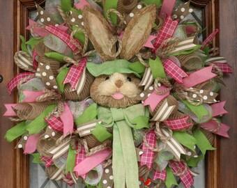 Sale, Wreath Sale, Easter Bunny Wreath, Easter Wreath, Bunny Wreath, Spring Wreath