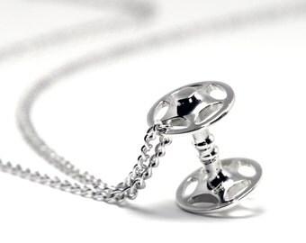 Sherrif Star Hub Pendant - Premium Silver