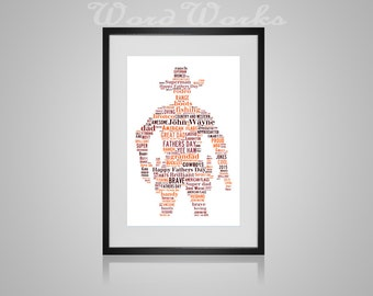 "Personalised Cowboy Word Art **Buy 3 prints get the 4th FREE**  Use coupon code "" MYFREEONE """