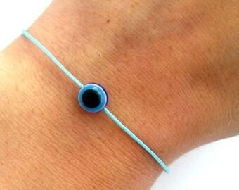 Evil Eye Bracelet Kabbalah Bracelet Protection Bracelet Baby Blue Luck String Bracelet Baby Blue Thread Men Bracelet