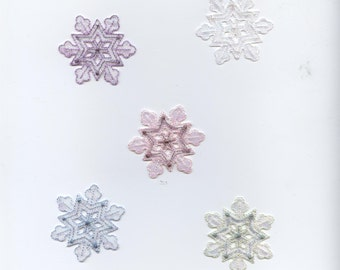 Iron-on Applique Patch - Embroidered Snowflake 693765 Medium