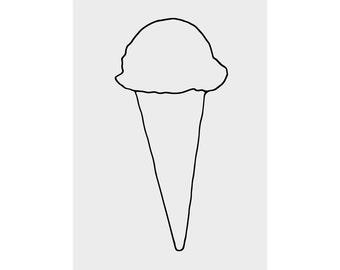 ice cream 5x7 print