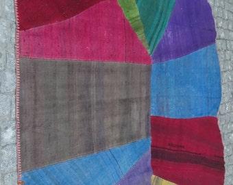 71x94in.-180x240 cm Handmade kilim patchwork rug,Anatolian kilim Patchwork rugone-of-a-kind bohemian rug,Multicolor kilim patchwork rug