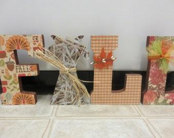 Fall Decor-Wood Fall Letter Set