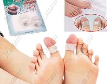 1 Pair of Body Slimming Silicone Magnetic Toe Rings for Losing Weight
