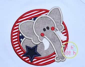 Republican Election Political Party Elephant Embroidered Shirt FREE Personalization