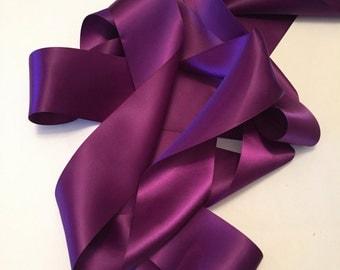 Plum Satin Ribbon/Purple Satin Ribbon/Plum Ribbon/Dark Purple Satin Ribbon/Purple Ribbon/Plum Dress Sash/Purple Bridal Belt/Plum Belt