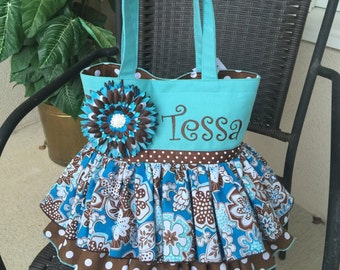 Tutu Tote Bag - personalization - Medium 11x8 or Large 13x13