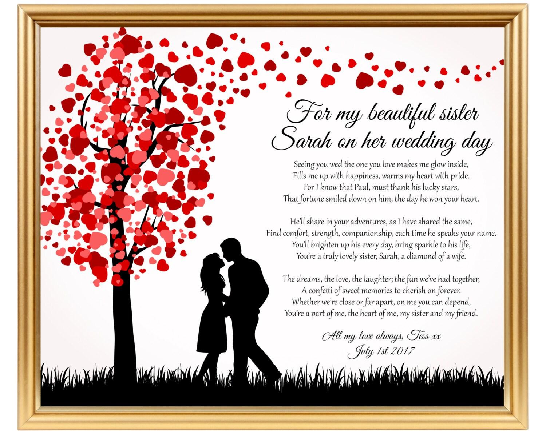 Poem For Wedding Gifts: Wedding Gift Poem For Sister Sister Wedding Gift Gifts For
