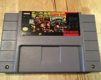 Donkey Kong Country 2: Diddy's Quest | Authentic Super Nintendo Game | SNES | Cleaned and Tested | Collectible 16-Bit Game