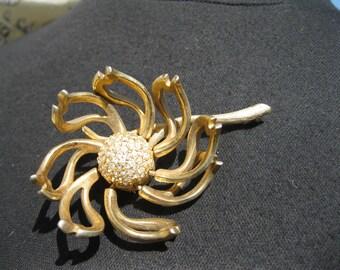 Les Bernard Articulated Flower Brooch