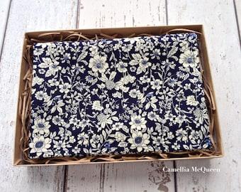 Men's pocket square, men's handkerchief, navy floral pocket square