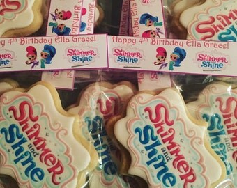 Shimmer and Shine Inspired Logo Sugar Cookies