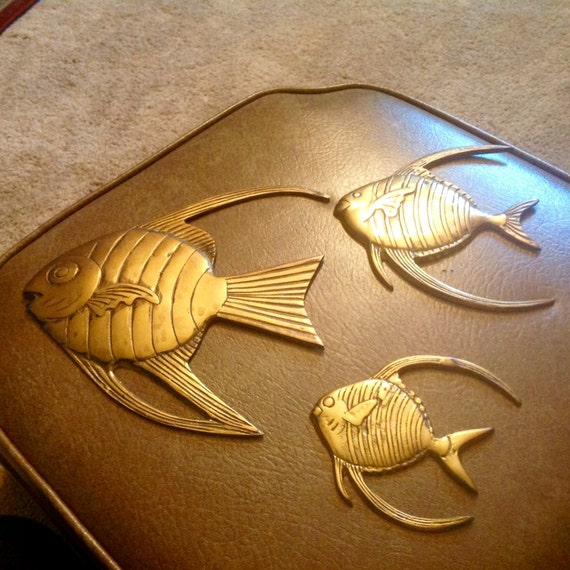 Brass fish wall decor fisherman man cave for Fishing decor for man cave