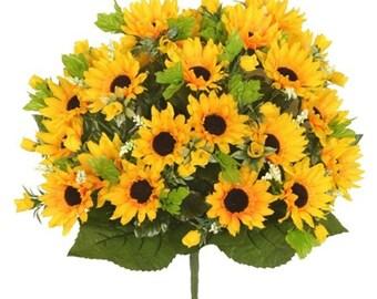 24 Head Artificial Foxtail Sunflower