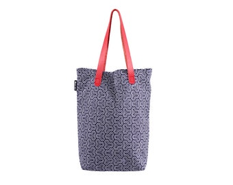 Akira. Geometric Print 100% Cotton Tote Bag