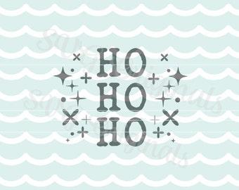 Ho Ho Ho SVG Vector File. Santa Claus Ho ho ho SVG. Cute retro style! So Many uses. Cricut Explore and more! Merry Christmas!