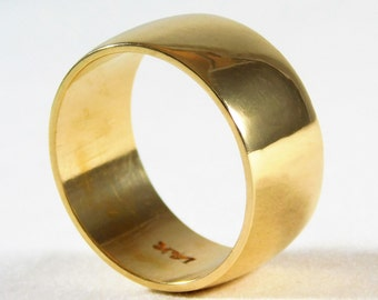 Thick 14kt Yellow Gold Wedding Band