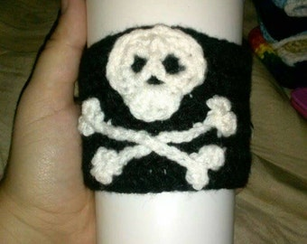 Jolly Roger coffee cozy sleeve