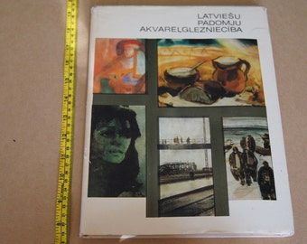 Vintage 1960's - Latvian Book-  - Latviesu Padomju akvarelgleznieciba - Art