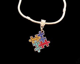 Autism Bracelet European style Autism awareness Bracelet  Autistic Bracelet  European style Autism bracelet