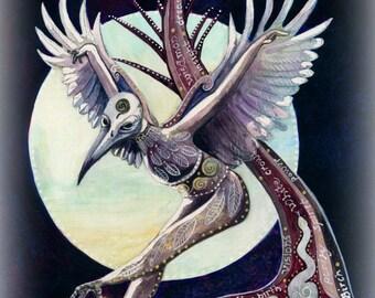 White Crow Spirit  Giclee Print
