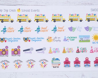 School Events Planner Stickers {SWT001}