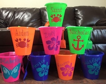 Personalized beach pails/buckets