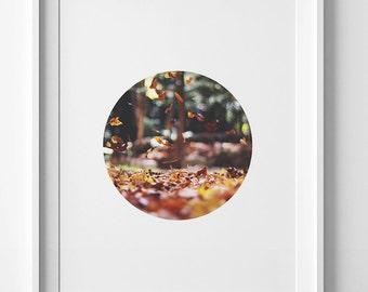 Printable art Thanksgiving print fall print autumn printable decor fall wall art autumn leaves print fall art Autumn decor autumn fall decor