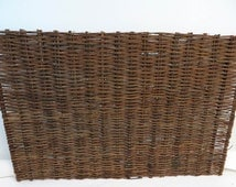 Willow woven hurdle fence panel, 6'W x 4'H, WWP-64