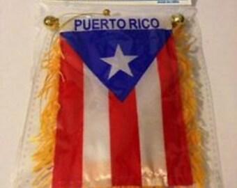 Puerto Rico  mini flag Banner car Rearview mirror