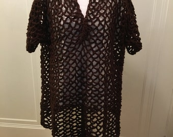 Chocolate Lace Blouse