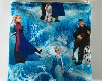 Frozen clan Reusable snack bag, sandwich bag etc...