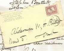 1867 Lowell Massachusetts Cover & Letter Bullseye Cancel Handwritten Letter by John McEvoy to Alderman Parker City Government Ward 5 ~ 5283b
