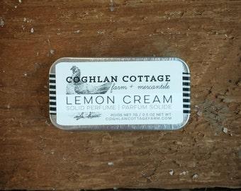 SOLID PERFUME  | Lemon Cream | Citrus, Vanilla + Ylang Ylang Solid Perfume