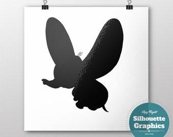 Dumbo, dumbo, silhouette, file, svg, eps, disney, font, monogram, princess, large, graphic, illustration, art