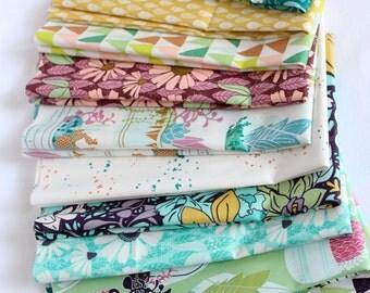 Fat Quarter Bundle - Succulence by Bonnie Christine for Art Gallery Fabric 12 Prints