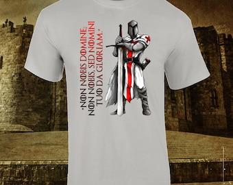 Knights Templar Cusader Teutonic Creed Gift Premium Quality T-Shirt up to 2XL