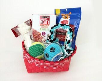 Dog Gift Basket Treats Toys Set